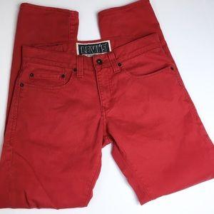 Levi's Skinny 511 Red Jeans, W31, L30